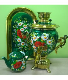 Самоварный набор с росписью «Цветы2»