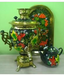 Самоварный набор с росписью «Цветы3»